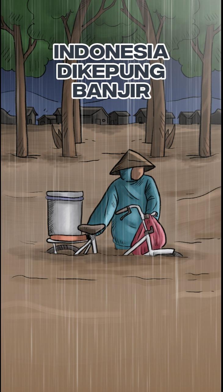 Indonesia Dikepung Banjir